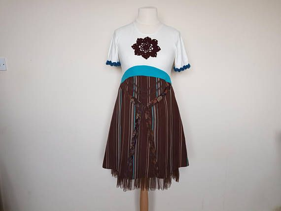 Upcycled clothing Upcycled dress for women Bohemian clothing