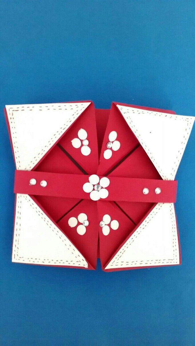 Famoso Biglietto compleanno origami   Biglietto, Origami, Fai da te HE43