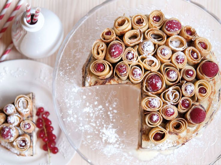 Gâteau de Crêpes « Bouquet de Roses » (vanille & chocolat) - Safran Gourmand