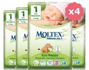 MOLTEX Maxi Pack Eco - Couches Jetables Eco Nappy