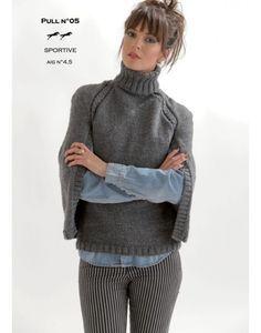 Modèle pull CB19-05- Patron tricot gratuit