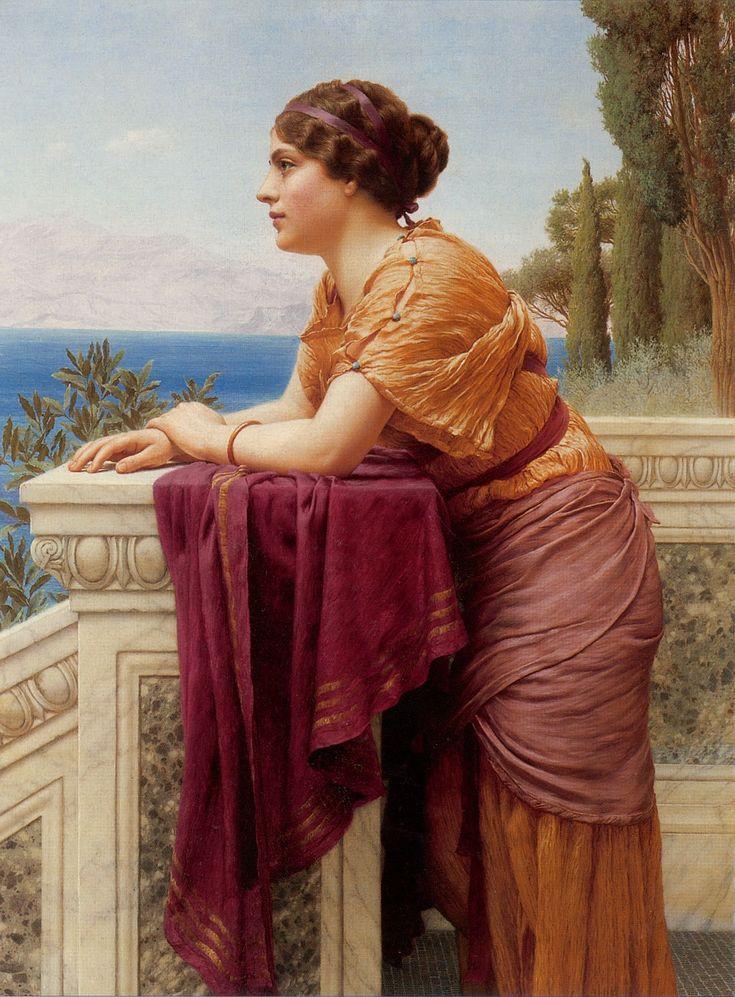 John William Godward  était un peintre anglais.  Il fut le protégé de  Lawrence Alma-Tadema .  Son style de  peinture (néo-classi...