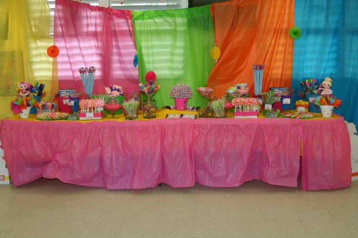 7 year old girls birthday party favorcandy station Sissys
