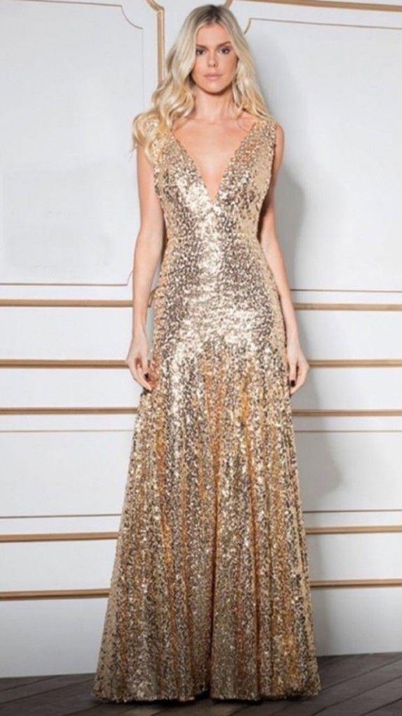 Vestido Dourado Longo Robes élégante Dresses Gowns Et Evening Gowns