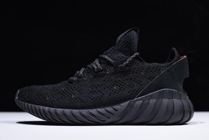 5b209e28 Mens and Womens Adidas Tubular Doom Sock Primeknit Bred Triple Black  Sneakers