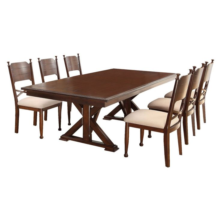 Furniture Of America Belfast 7 Pieces Dining Table Set