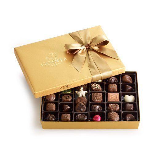 #foodiegift Godiva Chocolatier Gold Ballotin, Classic Gold Ribbon, 36 Count #chocolategift http://foodiegiftsnow.com/grocery-gourmet-food/gourmet-gifts/godiva-chocolatier-gold-ballotin-classic-gold-ribbon-36-count-com/