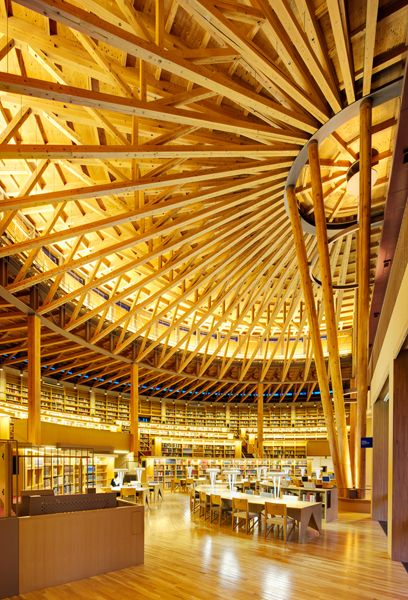 Library of Akita International University in Japan