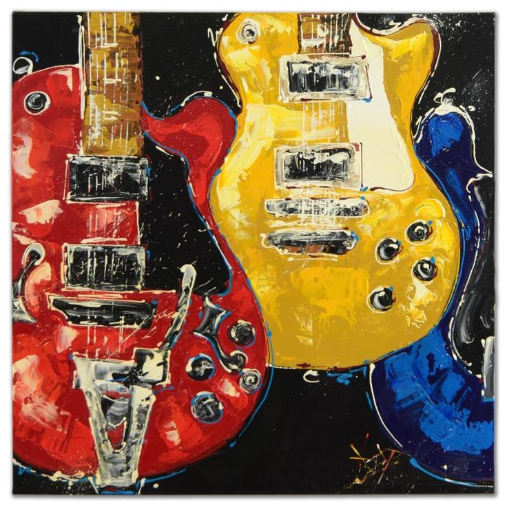 24 best Guitar Paintings images on Pinterest | Guitar painting ...