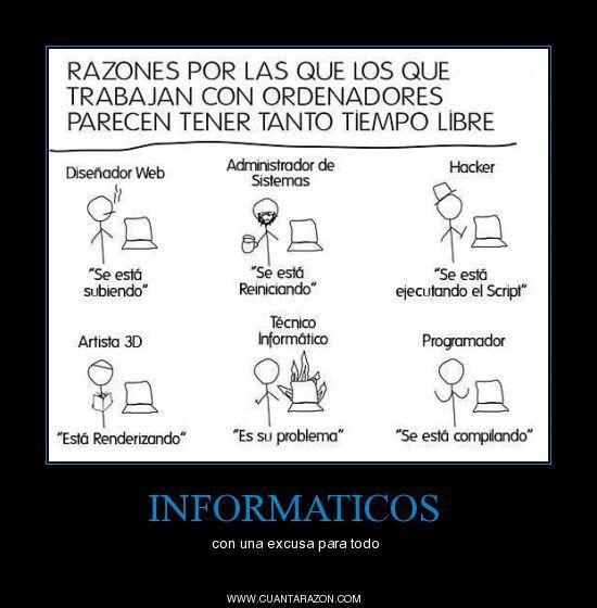 #CuantaRazon #Informaticos Tiempo libre