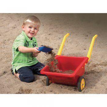 Small Plastic Wheelbarrow. A durable child size plastic wheelbarrow. Can take up to 50kg of weight.