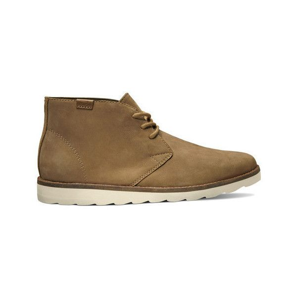 Vans Women's Desert Chukka Boots (140 CAD) ❤ liked on Polyvore featuring shoes, boots, genuine leather shoes, light weight boots, real leather shoes, leather chukka boots and vans boots