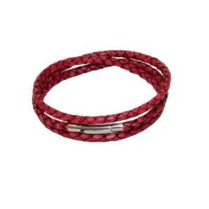 3row payroll braid leather bracelet by Dora By Ebru // 3 sıra bodrdo örgü deri bileklik - by Dora By Ebru