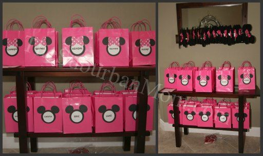 mini mouse - goody bags