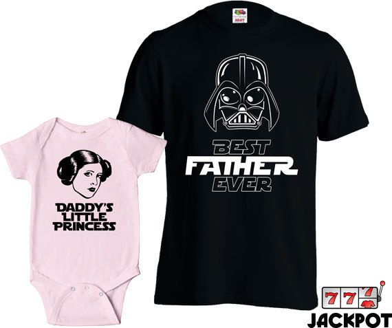 Matching Father Daughter Shirts Best Dad Ever T Shirt Daddys Little Princess Baby Bodysuit Matching Family Shirts First Fathers Day MD-427C