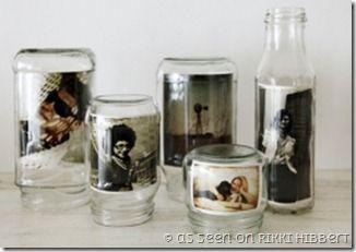 Come trasformare barattoli di vetro in cornici {Green.itudine del 15 settembre 2011}