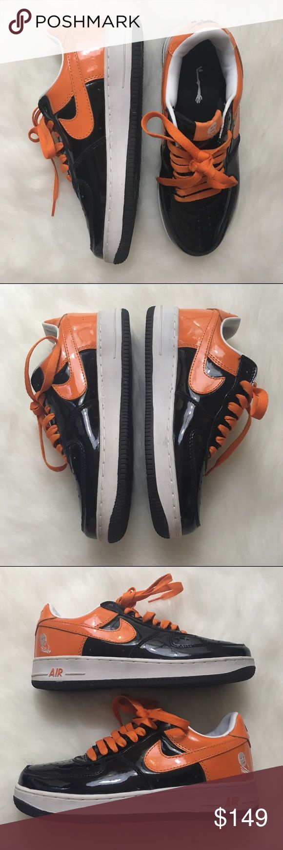Rare Men's Halloween Nike Air Force Ones, Size 7.5 These hard to find men's Nike Air Force Ones are a limited Halloween edition sneaker. Great condition, minor signs of wear since the shoes are preowned. Size 7.5. Great collector's item for any sneaker head. Nike Shoes Sneakers