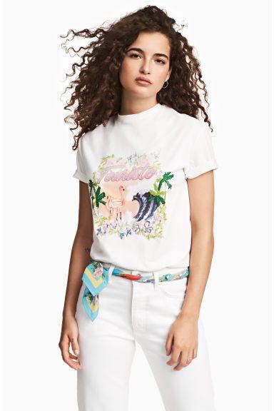 Camiseta con motivo estampado - Blanco - MUJER | H&M ES 1