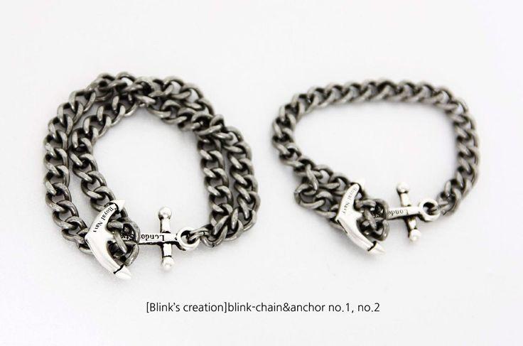 Chain&anchor bracelet for men's summer  www.beblink.co.kr
