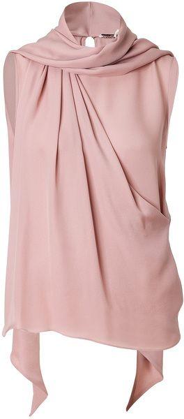 Emilio Pucci Silk Scarf Neck Top For similar items, please visit http://www.fashioncraycray.xyz/