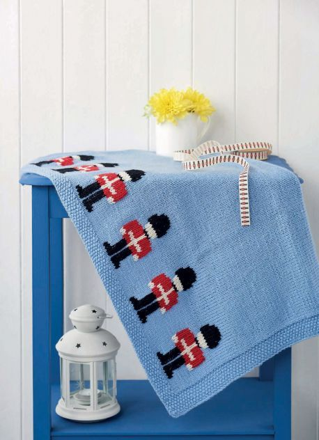 FREE KNITTING PATTERN: Little soldier blanket