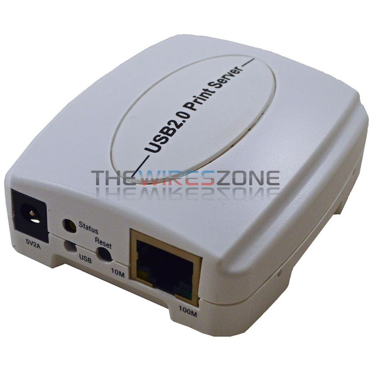 10/100Mbps USB 2.0 Fast Ethernet Network Wired Print Server for Windows Mac OS #TheWiresZone