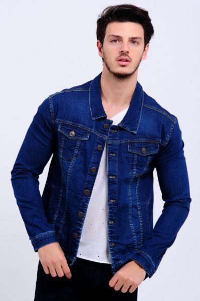 edf23679a92b4 Erkek Kot Ceket Çift Cep Detay Mavi Kot Ceket #Elbise #Kap #Armine ...