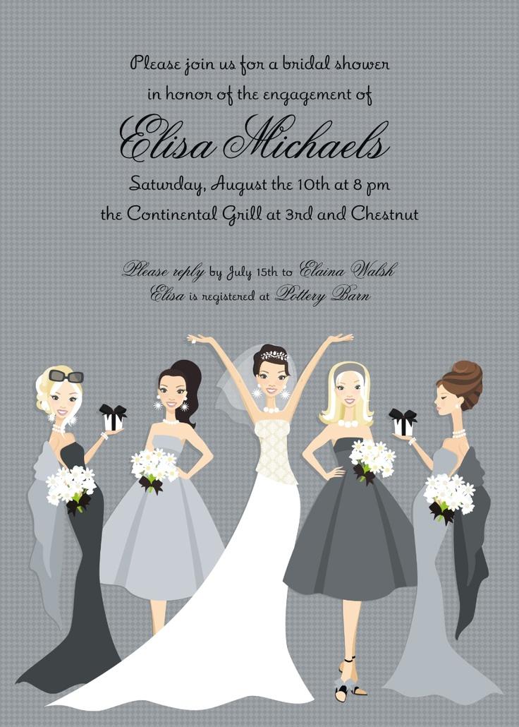 bridal shower invitations registry etiquette%0A bridesmaid bride bridal invitation Repin By Pinterest   for iPad