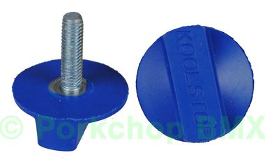 Kool Stop Intl'l old school BMX finned bicycle brake pad REFILLS (PAIR) - BLUE (EM-IRBU)
