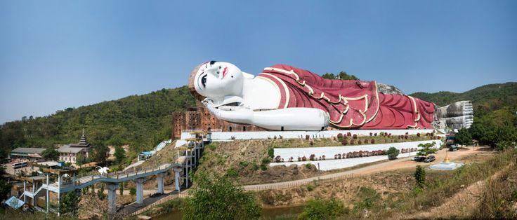 Grand bouddha couché de Mawlamyine