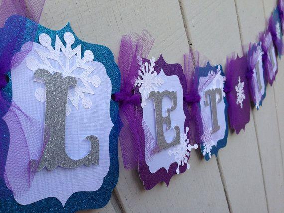 Frozen banner package by CelebrationBanner on Etsy