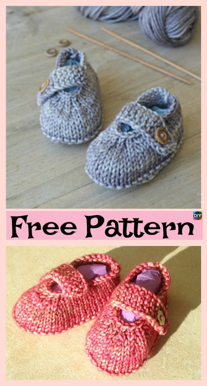Adorable Knitted Baby Ballerina Booties Free Patterns Moda De