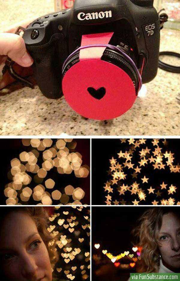 We love this camera trick creating hearts out of lights at night. Fun for Valentine's day!