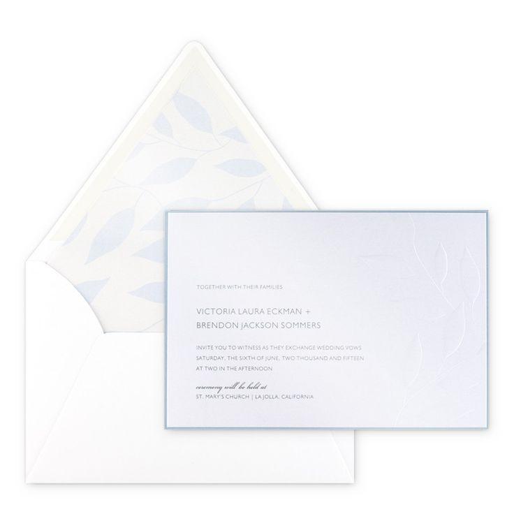 Laurel Invitation By Checkerboard   Wedding Invitations   Wedding   Custom  Printing
