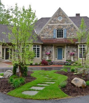 halfway circl driveways in front of homes - Google Search