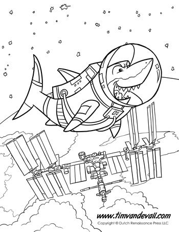 coloring pages international space station - photo#13