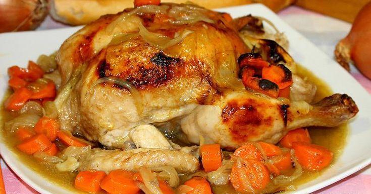 Pollo asado al limón en bolsa de asar (muy jugoso)