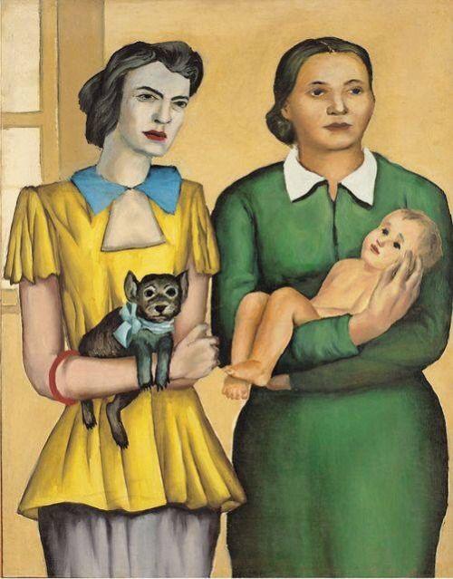Two married women (1949) by Andrzej Wróblewski (1927-1957), Polish (kundst)