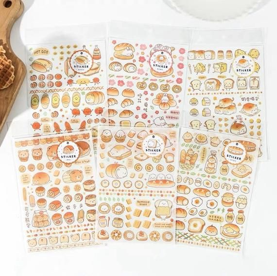 6 Sheets Funny Smiling Face Washi Paper Stickers DIY Scrapbooking Decor Stickers