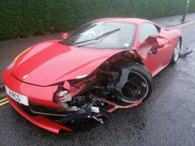 Best Exotic Car Wrecks Images On Pinterest Ferrari Car