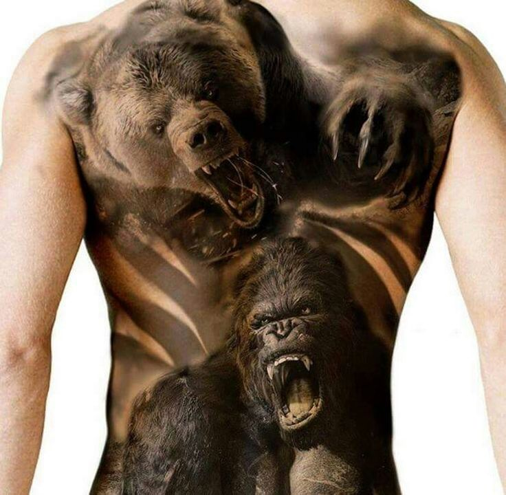 13 best gorilla tattoo images on pinterest sleeve tattoos mens tattoos and tattoos for men. Black Bedroom Furniture Sets. Home Design Ideas