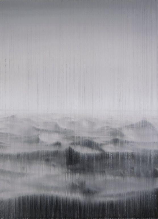 "Saatchi Online Artist: Akihito Takuma; Oil, 2010, Painting ""Lines of Flight-to the Sahara,op.329"""