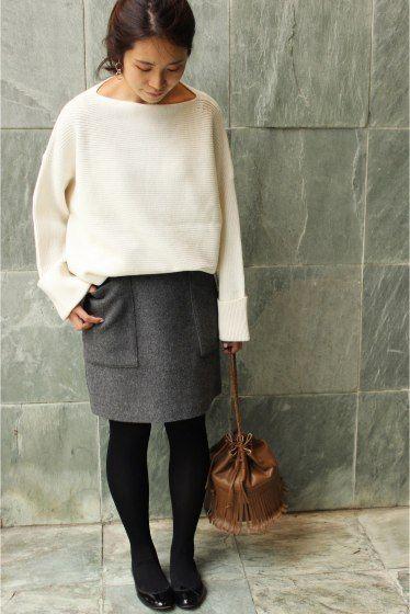 IENA(イエナ) 《追加》ブレンドビーバー台形スカート◆ | スタイルクルーズ