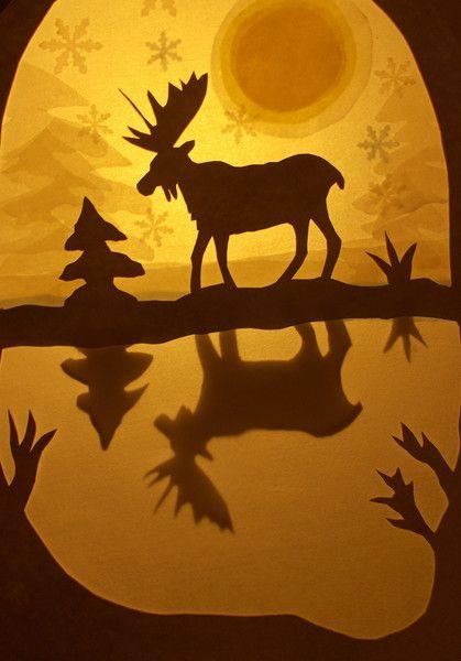 Jahreszeitentisch - Waldorf Transparentbild Winter - ein Designerstück von Puppenprofi bei DaWanda
