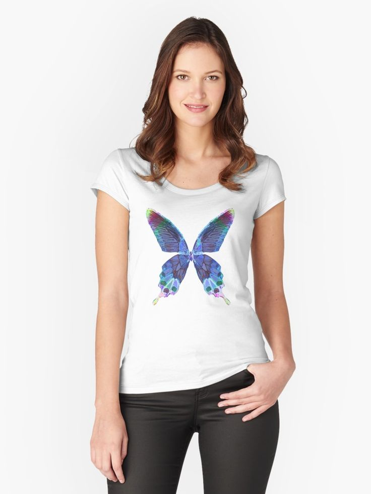 Abstract Butterfly Womens T-Shirt #butterfly #womensfashion #womenstshirt #abstract