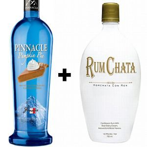 Pumpkin Pie Shot!   2 Parts – Pinnacle Pumpkin Pie Vodka  1 Part – RumChata  Add ingredients to cocktail shaker, add ice, shake, and strain into shot glasses…  Happy Holidays!
