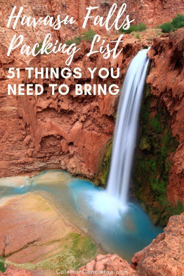 f5eab5c6081d Havasu Falls Packing List  51 Things You Need to Bring