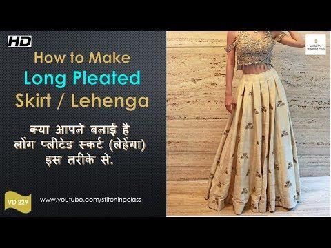 251ebf77f7 How to make Box Pleated Long Skirt, Long Skirt, Skirt Cutting and Stitching,Lehenga  Cutting - YouTube