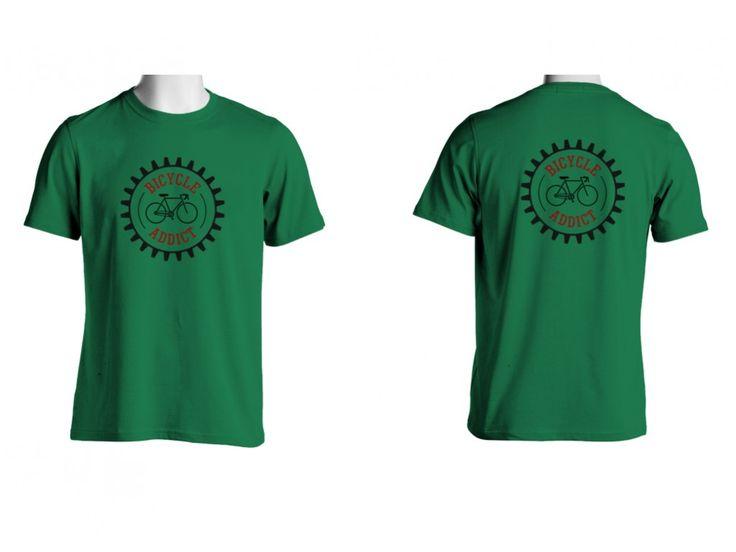 Tricou Capital T Bicycle Addict Irish Green
