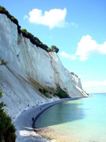 Mons Klint in Denmark :) I've been here and it's lovely!  Cliffs made of chalk!